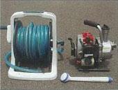 散布器具一式(簡易) 吐出量:100〜200ml/min程度 ホースリールセット、園芸用シャワーヘッド
