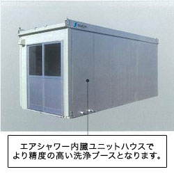 Built-in air shower