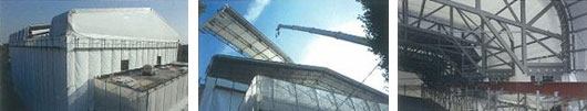 Roof renovation of the gymnasium W:30m×D:30.69m