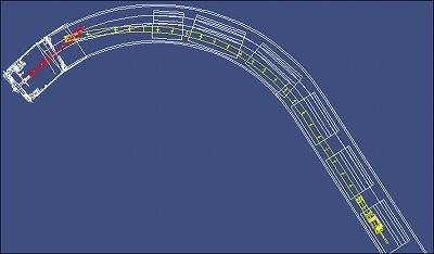カーブコンベア(曲線施工対応型)